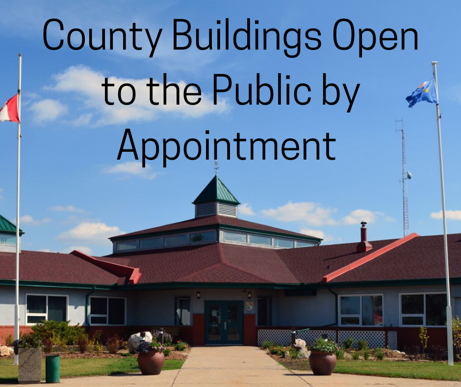 County buildings open