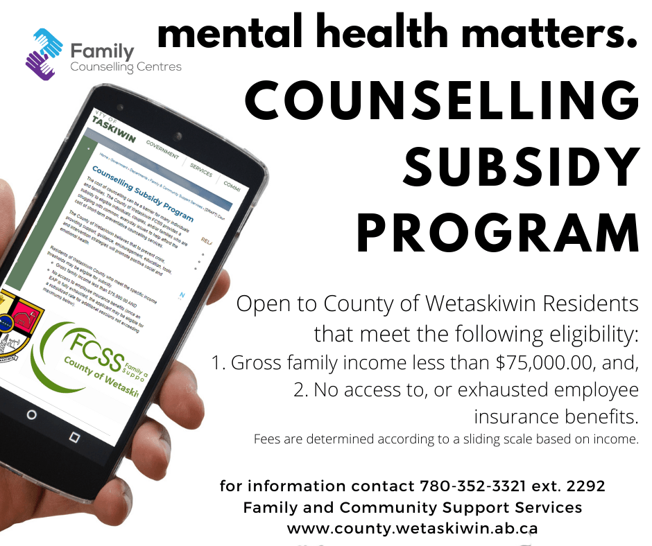 FCSS Counselling Subsidy - 2
