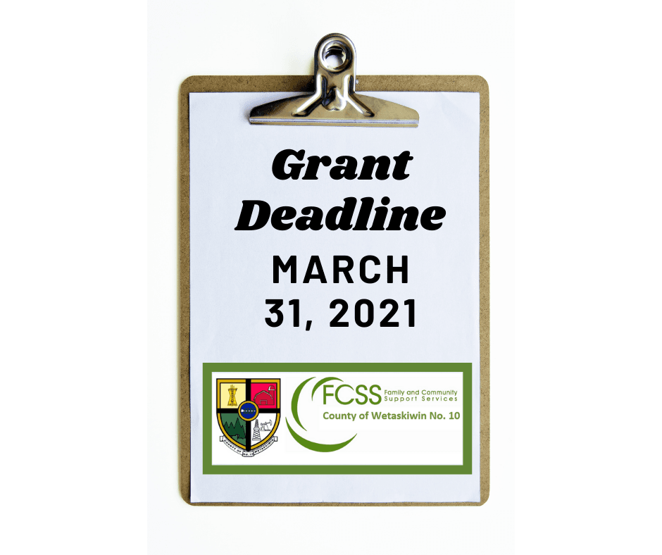Community Grant Deadline - September 30, 2020