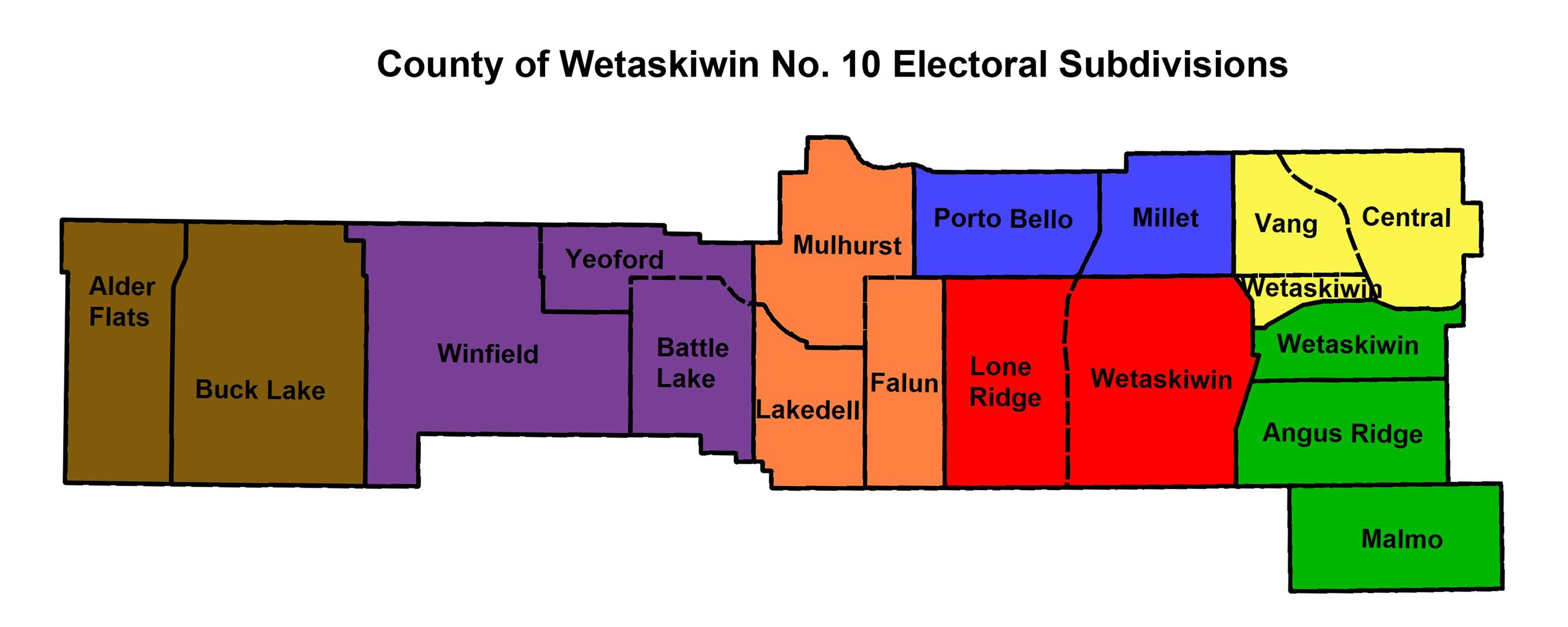 2017 Electoral Division and Subdivision Map