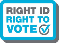 Logo of the Right ID, Right to Vote campaign